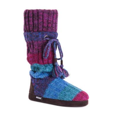 Muk Luks Womens Avril Bootie Slippers