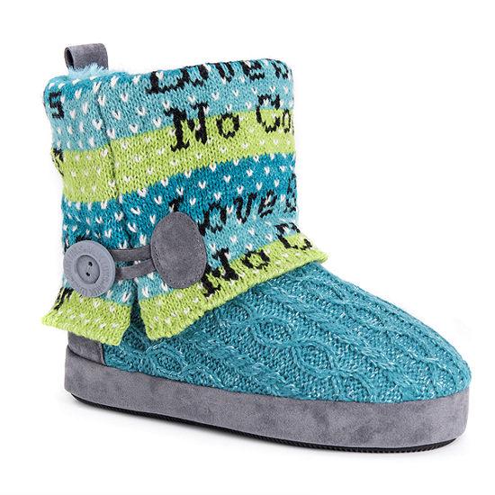 Muk Luks Patti Womens Bootie Slippers
