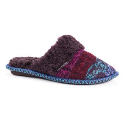 Muk Luks Womens Perlyn Scuff Slip-On Slippers