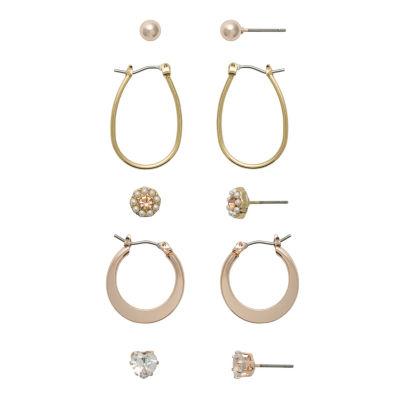Sensitive Ears 5 Pair Copper Earring Set