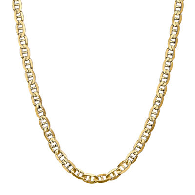 14K Gold Solid Anchor Chain Necklace