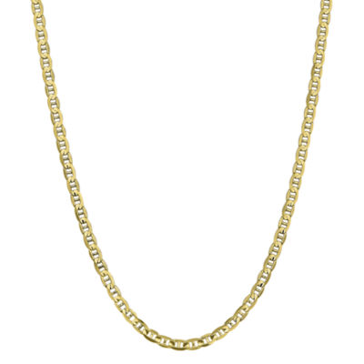 10K Gold 18 Inch Solid Anchor Chain Necklace