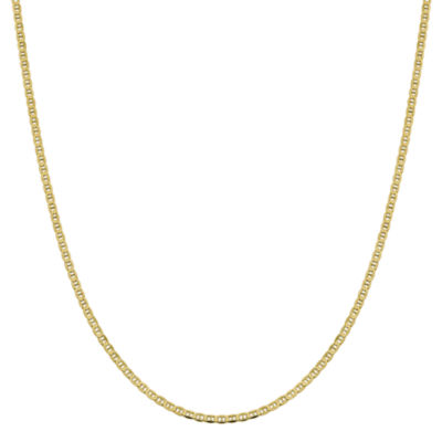 10K Gold 16 Inch Solid Anchor Chain Necklace