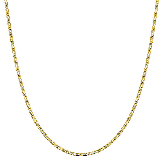 10K Gold Solid Anchor Chain Necklace