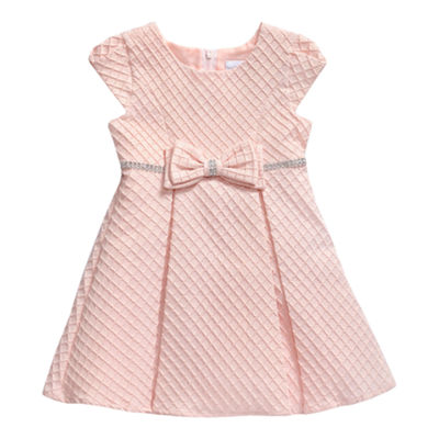 Young Land Short Sleeve Party Dress - Toddler Girls