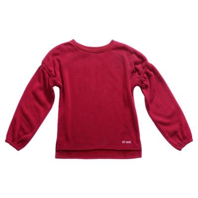 Obsess Girls Crew Neck Long Sleeve Sweatshirt