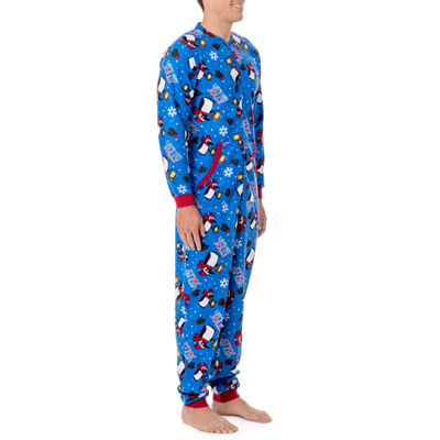 Wembley Funsie Onesie Get Jolly Penguin 1 Piece Pajama -Men's