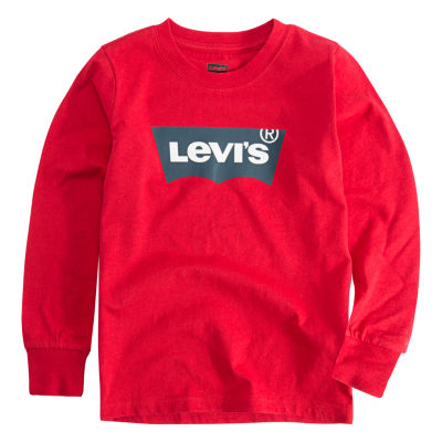 Levi's L/S Graphic Tee Long Sleeve Round Neck T-Shirt-Toddler Boys