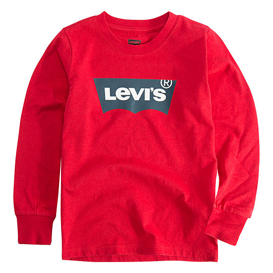 Levis L S Graphic Tee Boys Crew Neck Long Sleeve T Shirt Toddler