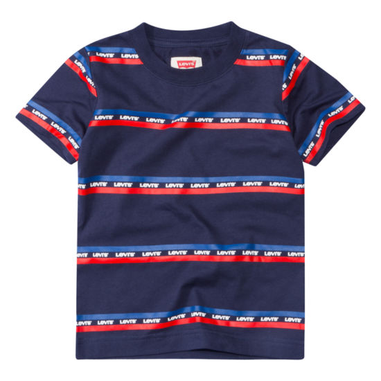 Levi's® ™ Mac Striped Tee Short Sleeve Round Neck T-Shirt-Toddler Boys