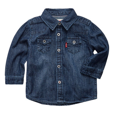 Levi's® ™ Barstow Western Shirt Long Sleeve Button-Front Shirt-Toddler Boys 2T-4T