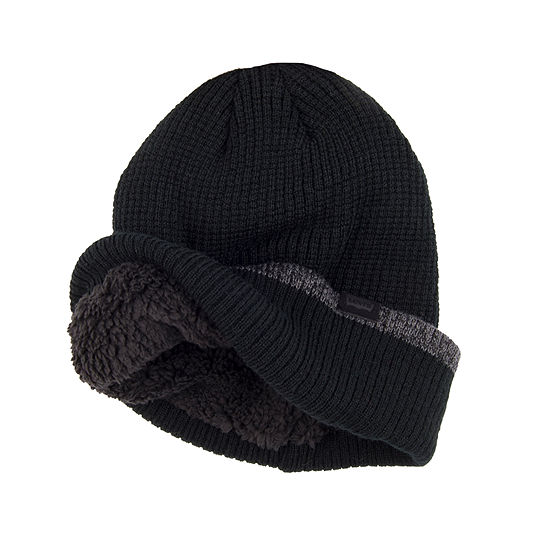 Levi's® Faux Fur Lined Waffle Knit Beanie