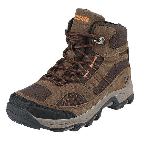 Northside Little Kid/Big Kid Boys Rampart Mid Hiking Boots Flat Heel Lace-up