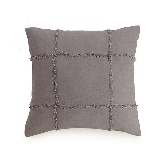 Ayesha Curry Aubergine Fringe Square Throw Pillow