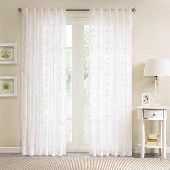 Madison Park Kida Sheer Rod Pocket Curtain Panel