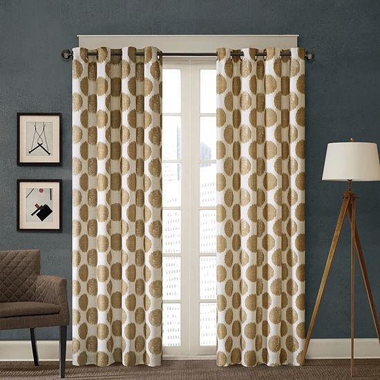 Madison Park Miki Grommet-Top Curtain Panel