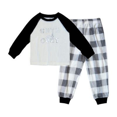 Holiday #Famjams Grey And Black Buffalo Family Boys 2-pc. Pant Pajama Set Toddler