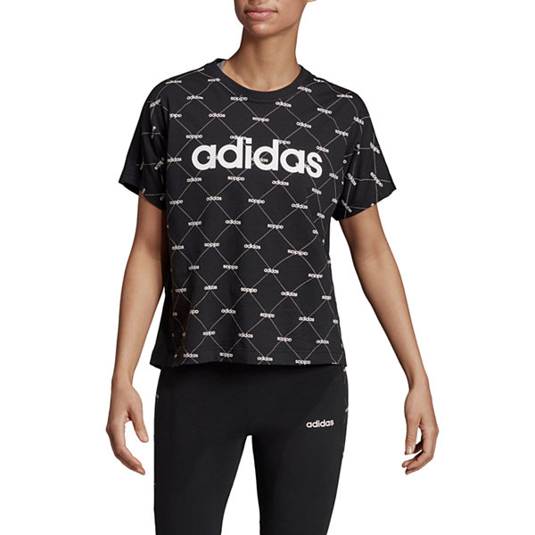 adidas Core Favorite Tee-Womens Crew Neck Short Sleeve T-Shirt