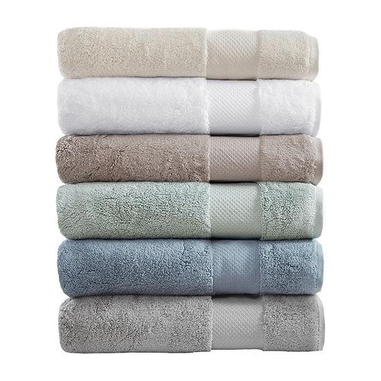 Madison Park Signature Turkish Cotton Solid 6-pc. Solid Bath Towel Set