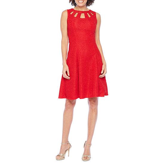 Alyx Sleeveless Glitter Fit & Flare Dress