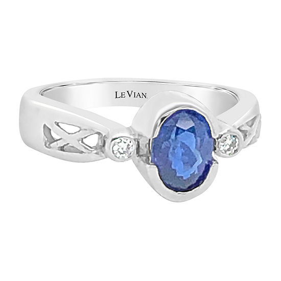 LIMITED QUANTITIES! Le Vian Grand Sample Sale™ Ring featuring Cornflower Ceylon Sapphire™ set in 14K Vanilla Gold®