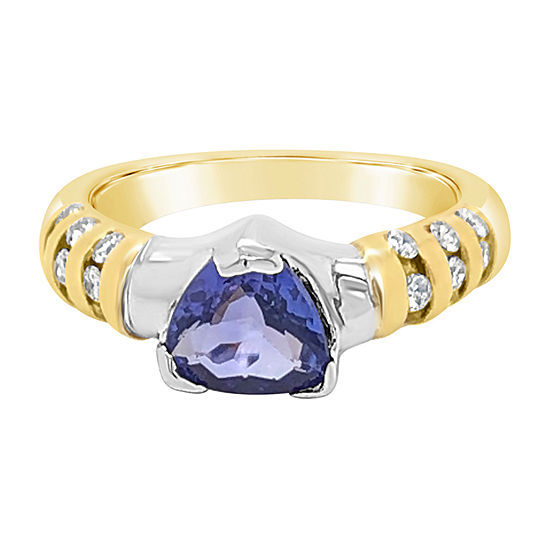 LIMITED QUANTITIES! Le Vian Grand Sample Sale™ Ring featuring Blueberry Tanzanite® set in 14K Two Tone Gold