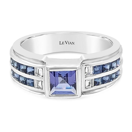 LIMITED QUANTITIES! Le Vian Grand Sample Sale™ Ring featuring Blueberry Tanzanite® Blueberry Sapphire™ set in 18K Vanilla Gold®