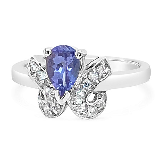 LIMITED QUANTITIES! Le Vian Grand Sample Sale™ Ring featuring Blueberry Tanzanite® set in 14K Vanilla Gold®