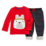 Hollywood Fleece Lined Boys 2-pc. Animal Jogger Set Toddler