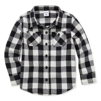 Okie Dokie Boys Long Sleeve Flannel Shirt-Toddler