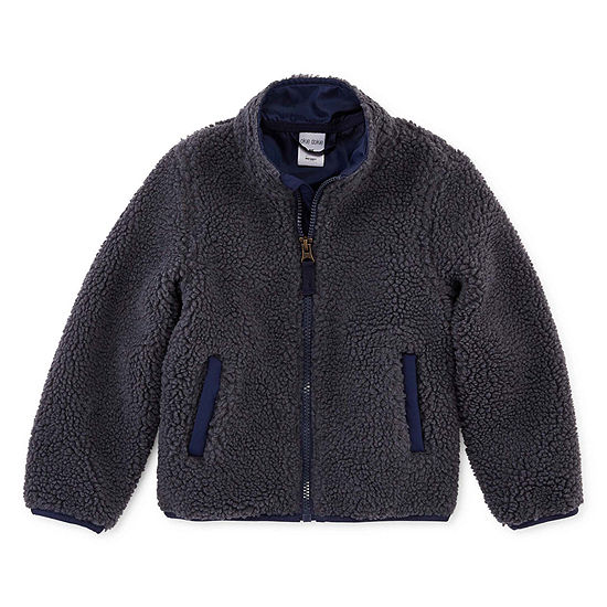 Okie Dokie Boys Sherpa Lightweight Jacket-Toddler
