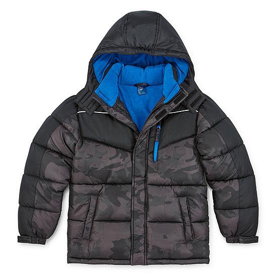 Arizona - Boys Fleece Lined Water Resistant Heavyweight Puffer Jacket Preschool / Big Kid