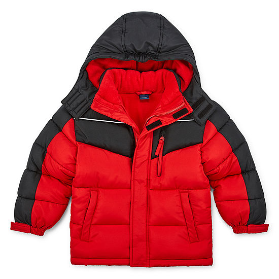Arizona - Boys Fleece Lined Water Resistant Heavyweight Puffer Jacket Preschool / Big Kid
