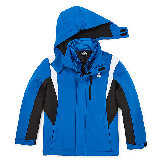 Reebok Boys Hooded Water Resistant Heavyweight 3-In-1 System Jacket Preschool / Big Kid