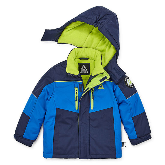 Reebok Boys Hooded Water Resistant Heavyweight Parka Preschool / Big Kid