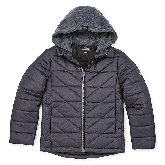 Pacific Trail - Boys Hooded Midweight Puffer Jacket-Big Kid