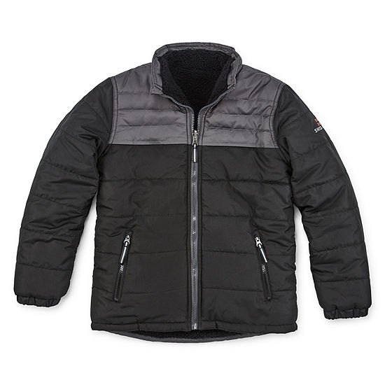 Swiss Alps Big Boys Reversible Heavyweight Puffer Jacket