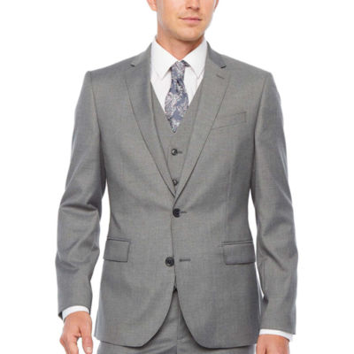 JF J.Ferrar Ultra Comfort Gray Slim Fit Stretch Suit Jacket