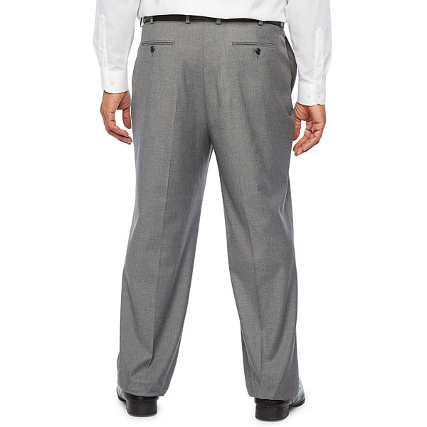 JF J.Ferrar Ultra Comfort Medium Gray Big & Tall Suit Pants