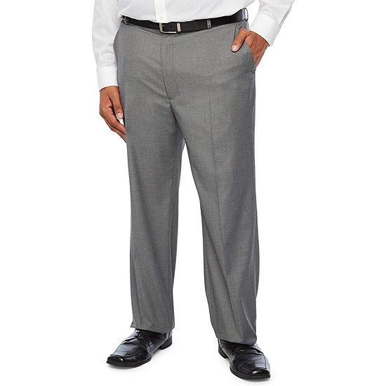 JF J.Ferrar Ultra Comfort Medium Gray Big & Tall Suit Pants