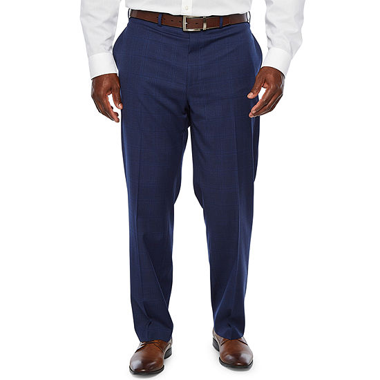 Collection by Michael Strahan  Plaid Classic Fit Stretch Suit Pants - Big and Tall
