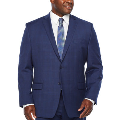 Collection by Michael Strahan -Big and Tall Plaid Classic Fit Stretch Suit Jacket