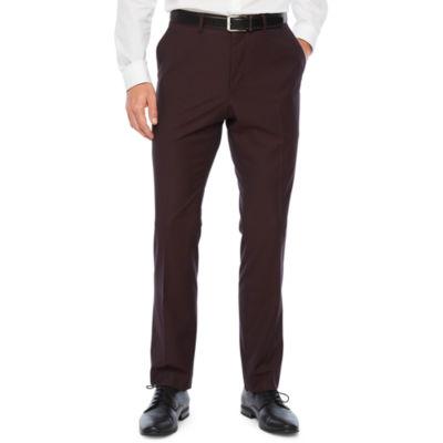 JF J.Ferrar 360 Stretch Burgundy Pulse Slim Fit Stretch Suit Pants