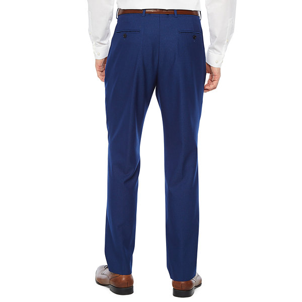JF J.Ferrar Striped Slim Fit Stretch Suit Pants