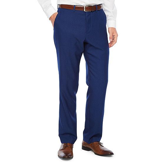 JF J.Ferrar Striped Slim Fit Stretch Suit Pants