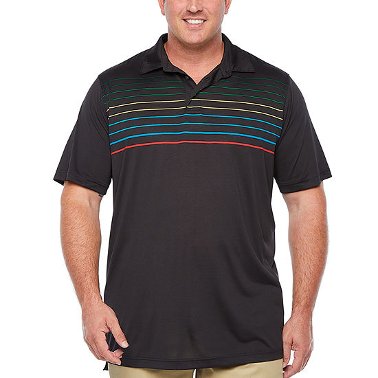 The Foundry Big & Tall Supply Co. Big and Tall Mens Henley Neck Short Sleeve Polo Shirt