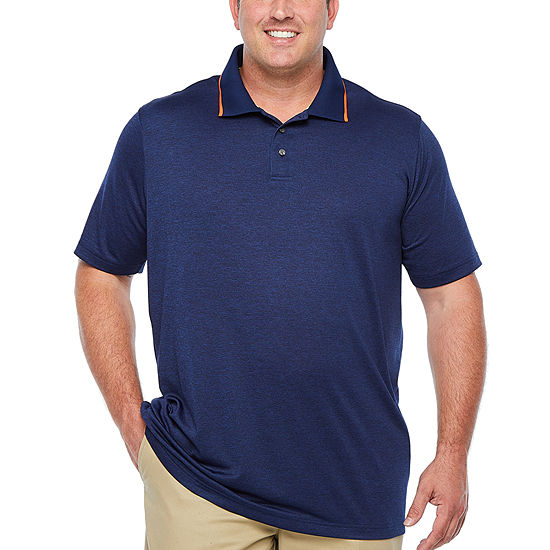 The Foundry Big & Tall Supply Co. Mens Henley Neck Short Sleeve Polo Shirt - Big and Tall