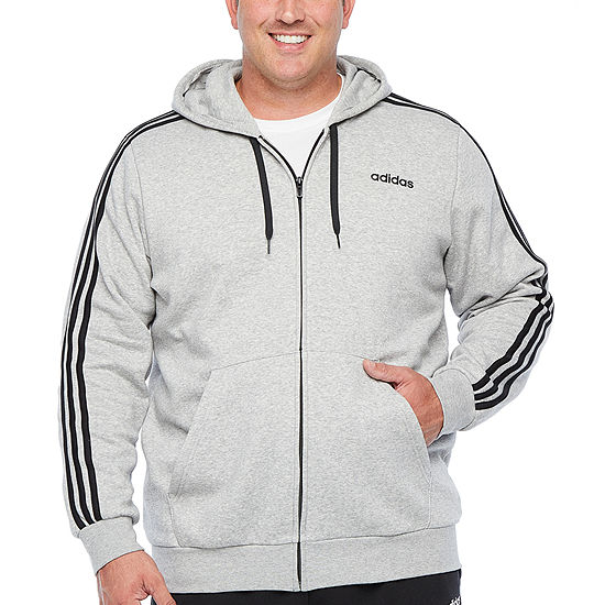 adidas-Big and Tall Mens Long Sleeve Hooded Hoodie