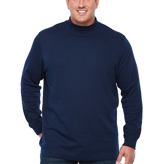 The Foundry Big & Tall Supply Co. Mens Long Sleeve Mock Neck Top Big and Tall