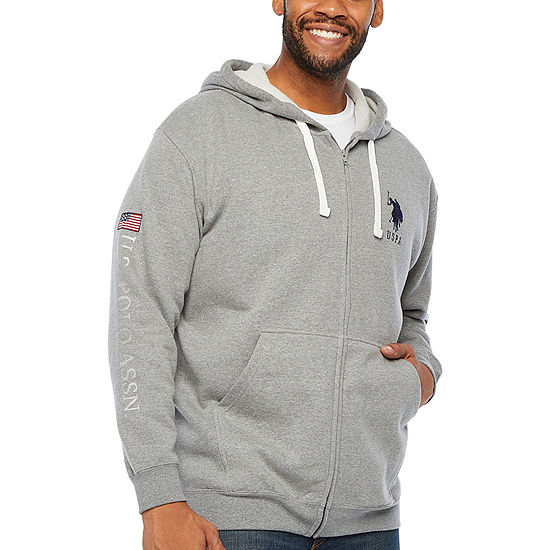 U.S. Polo Assn. Mens Hooded Neck Long Sleeve Sweatshirt Big and Tall